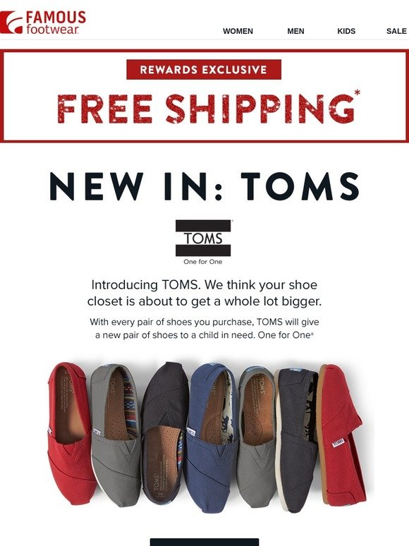 cf56596da5f Famous Footwear  So much new to ❤ TOMS