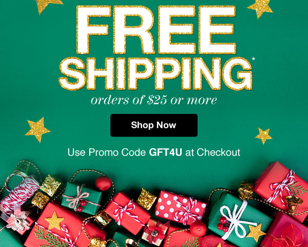 Get An Extra 20% Off almost everything PLUS FREE Shipping on orders of $25 or more! Use promo code GFT4U at checkout.