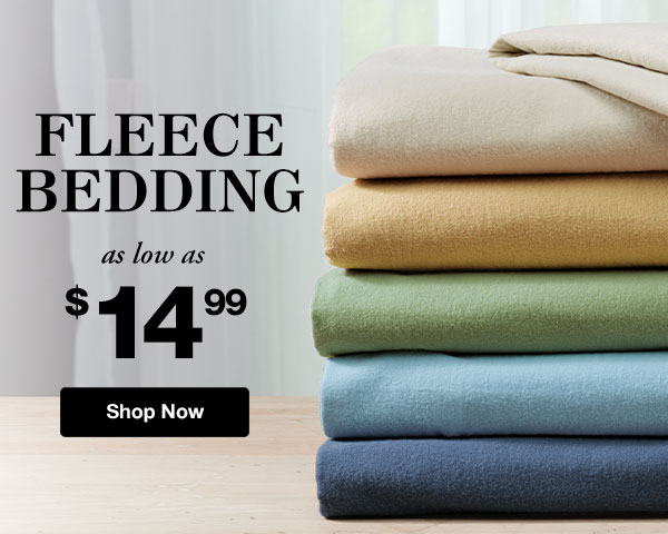 Shop Fleece Bedding!