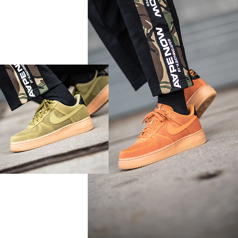 Nike Air Force 1 07 LV8 Camper Green Perfect For Fall