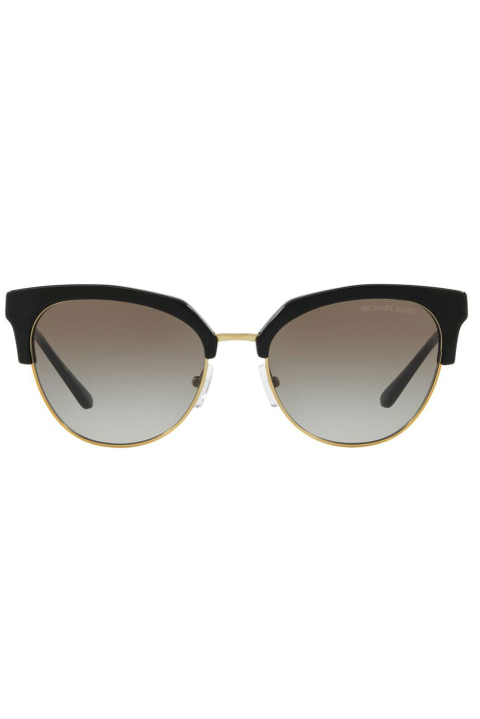 Ladies Sunglasses in Black and Shiny Pale Gold Tone