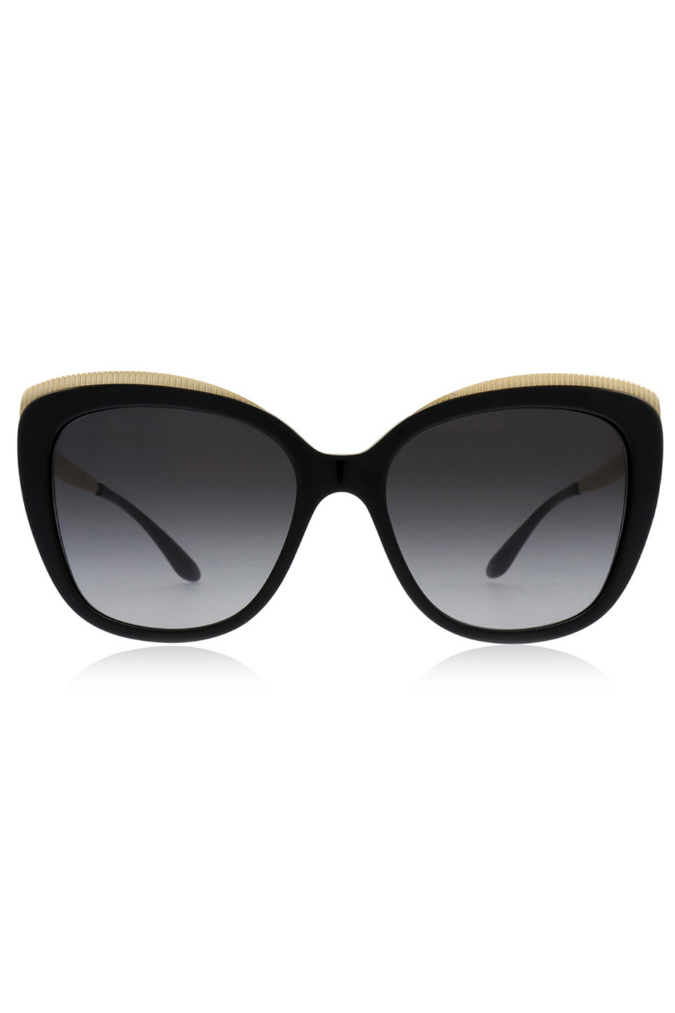 Ladies Sunglasses in Black and Gold and Gray Gradient