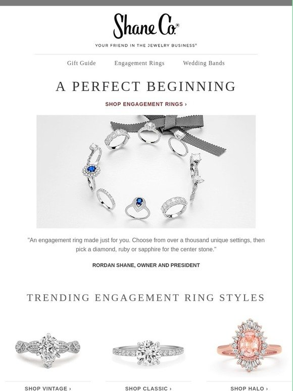 Shane Co : Modern, halo or classic: which ring is your favorite