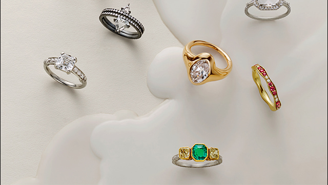 These jeweled rings make the perfect gift.