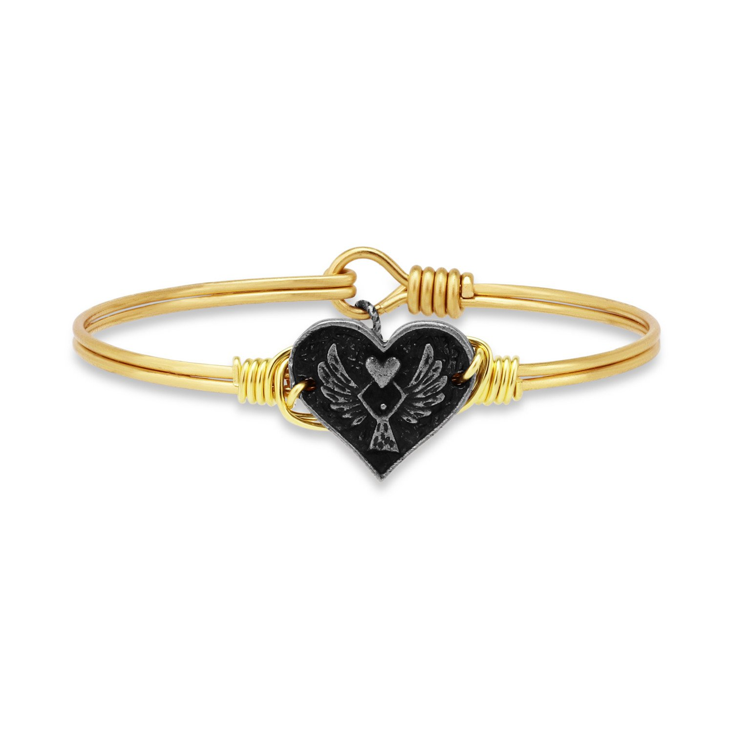 Angel Heart Bangle Bracelet