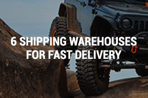 6 SHIPPING WAREHOUSES FOR FAST DELIVERY
