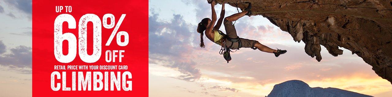 60% off Climbing Header