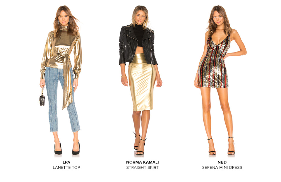 Golden Girl. Get glowing with the sparkliest & shiniest styles of the season. Shop The Edit.