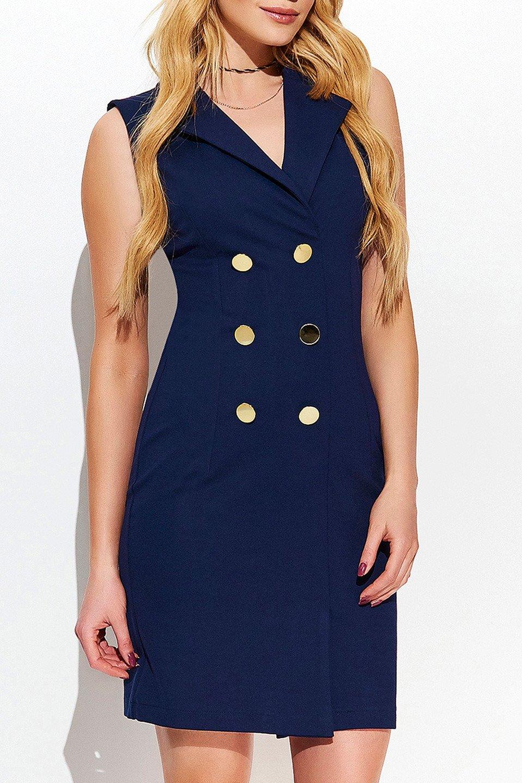 KASSIE DRESS IN DARK BLUE