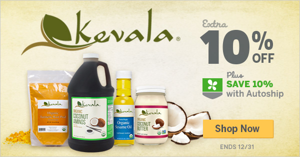 Extra 10% off All Kevala Items! Plus Save 10% with Autoship.  Shop Now!