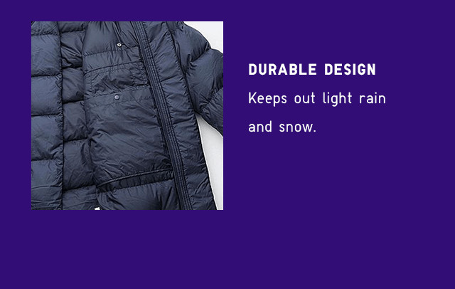 DURABLE DESIGN - KEEPS OUT LIGHT RAIN AND SNOW.