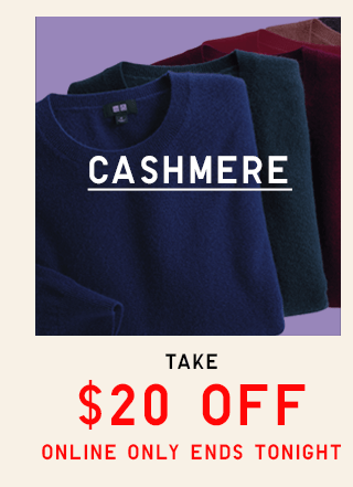 CASHMERE STARTING AT $79.90