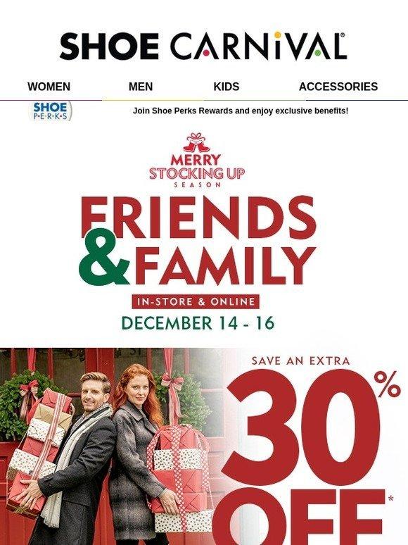 Shoe Carnival: 🎁 30% Off Friends