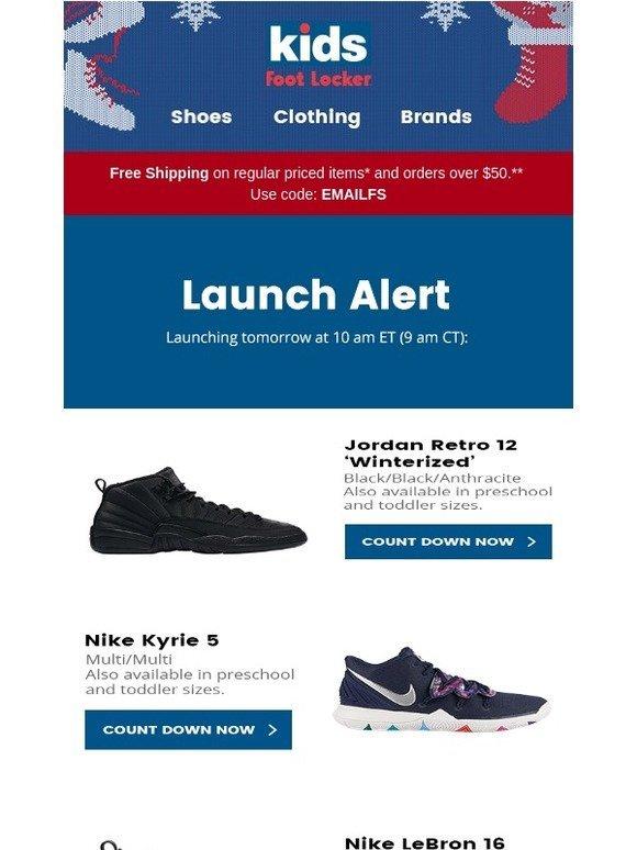 d02c2100822339 Kids Foot Locker  🚀 Releasing 12.15  Jordan Retro 12  Winterized  and more