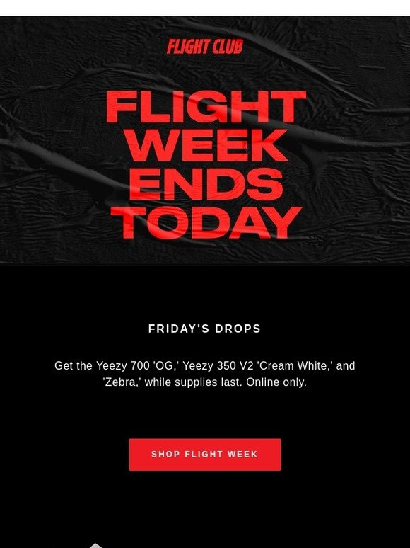cc1c4dbb813 Flight Club New York  FLIGHT WEEK ENDS TODAY  Yeezy 350  Cream White  for   210