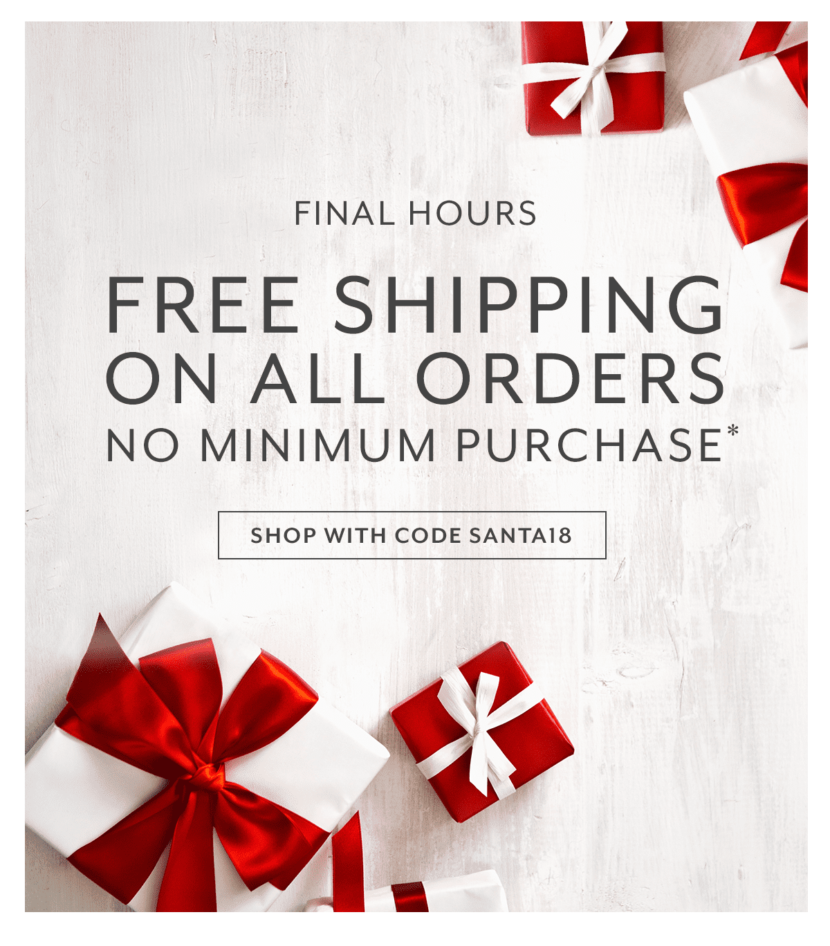 Free Shipping No Minimum