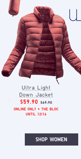 ULTRA LIGHT DOWN JACKET $59.90 - SHOP WOMEN