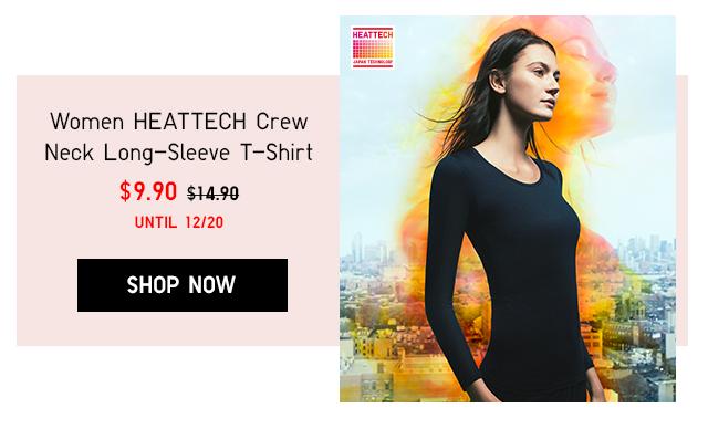 WOMEN HEATTECH CREW NECK LONG-SLEEVE T-SHIRT $9.90 - SHOP NOW