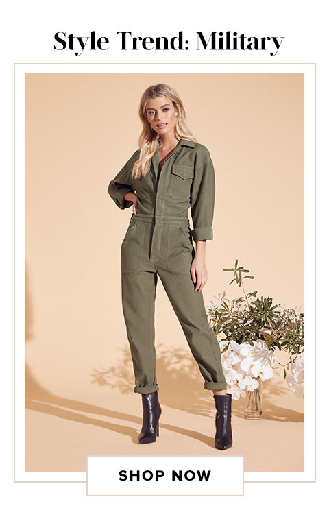 Style Trend: Military. Shop now