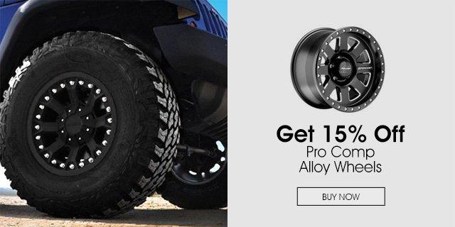 Save 15% Pro Comp Alloy Wheels