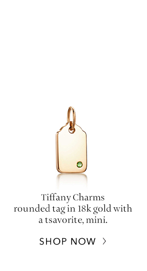 Shop Now: Tiffany Charms Rounded Tag in 18K Gold
