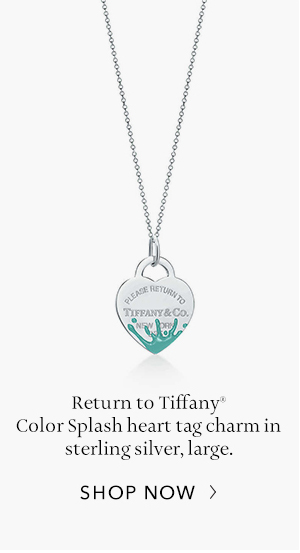 Shop Now: Sterling Silver Return to Tiffany Color Splash Heart Tag Charm