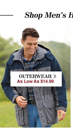 Shop Men's Outewrwear!