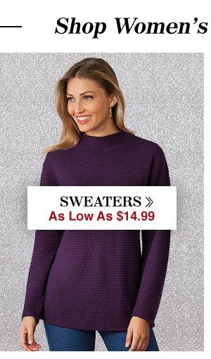 Shop Women's Sweaters!
