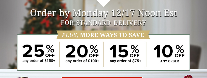 Order by Monday 12/17
