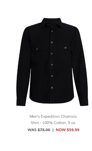 Men's Expedition Chamois Shirt – 100% Cotton, 9 oz. Was: $75.00 Now: $59.99