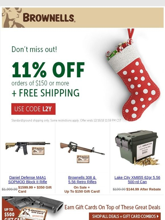 Brownells: |Last Chance| 11% Off THE WHOLE SITE! | Milled