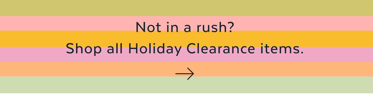 Not in a Rush?