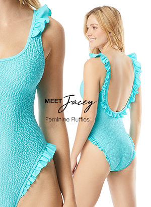4fc7062f58 COCO RAVE JACEY RUFFLE SCOOP NECK ONE PIECE SWIMSUIT - MATERIAL GURL