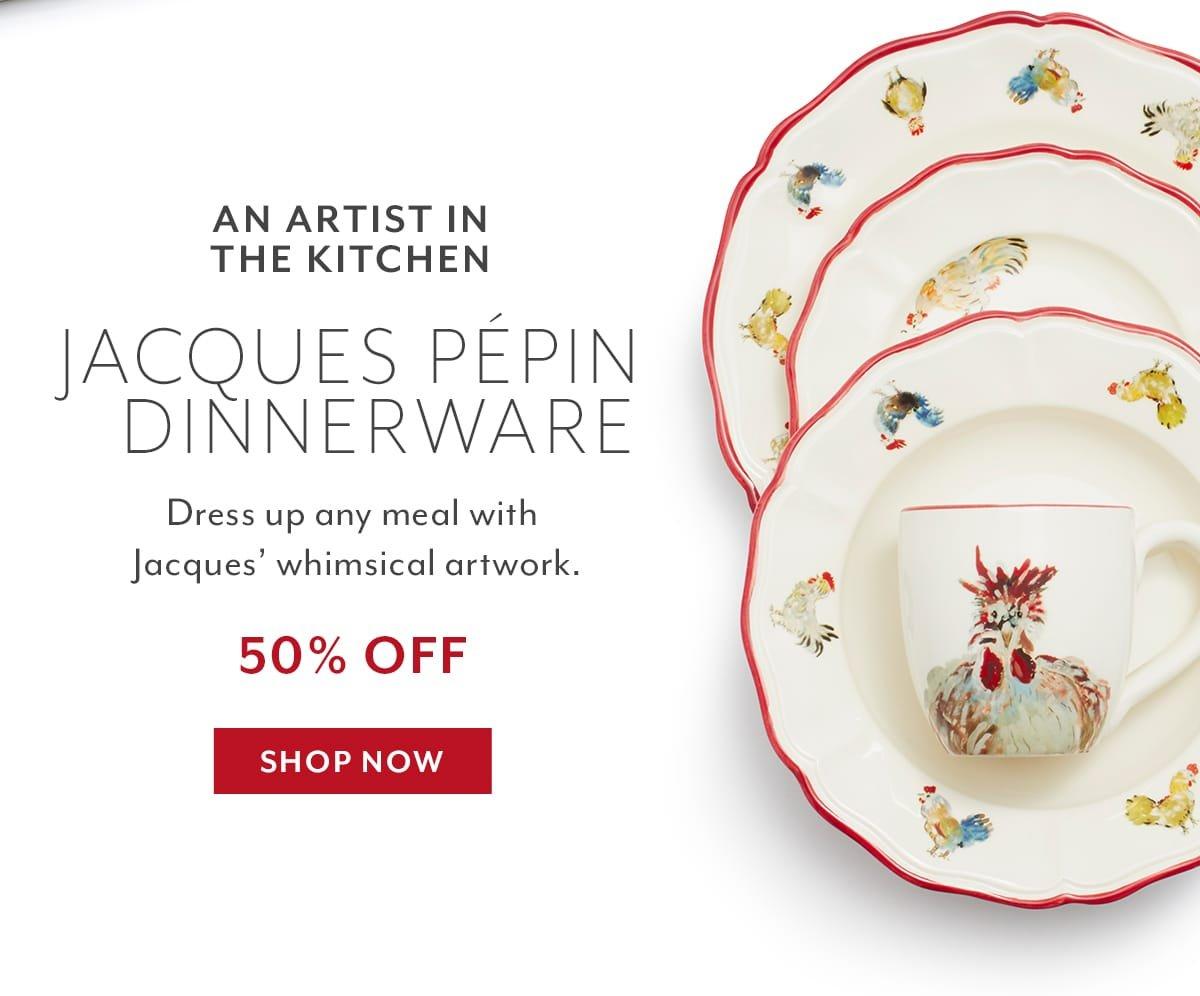 Jacque Pepin Dinnerware