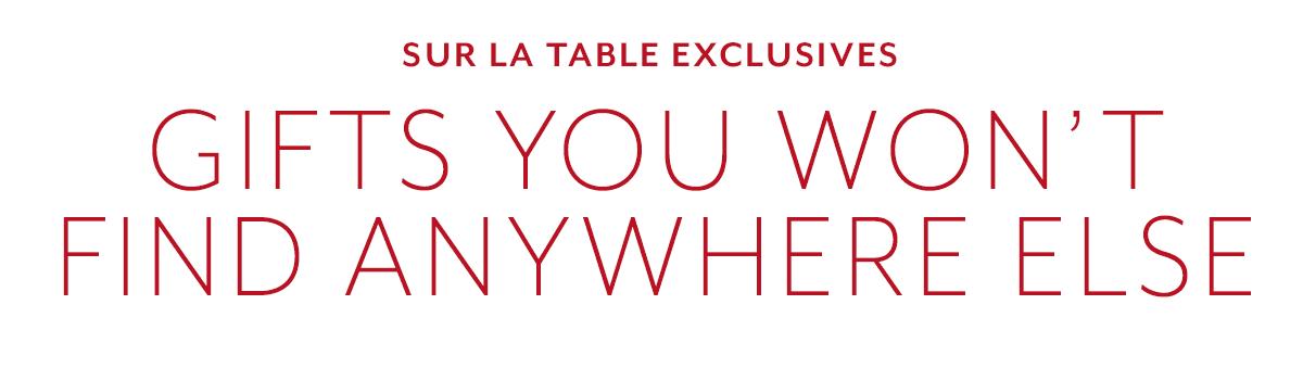 Sur La Table Exclusives