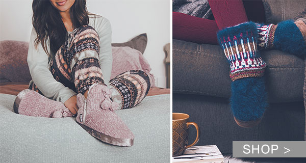 MUK LUKS SLIPPERS & ACCESSORIES FOR HER