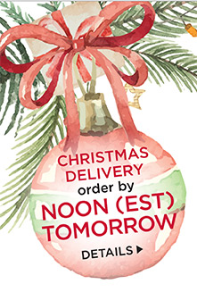 Get it in time for Christmas! Order by Monday at noon EST with standard shipping. See our shipping policy.