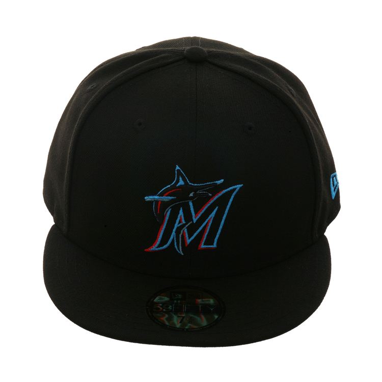 new product af84d 735ea New Era 59Fifty Authentic Collection Miami Marlins Game