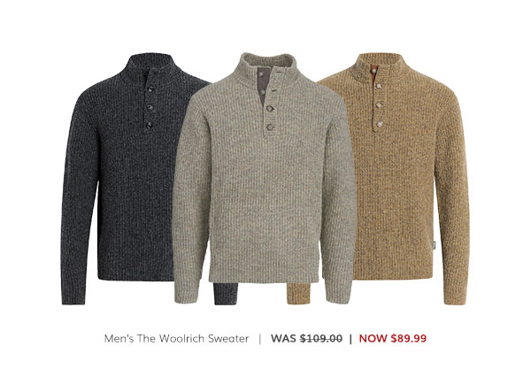 Men's The Woolrich Sweater Was: $109.00 Now: $89.99