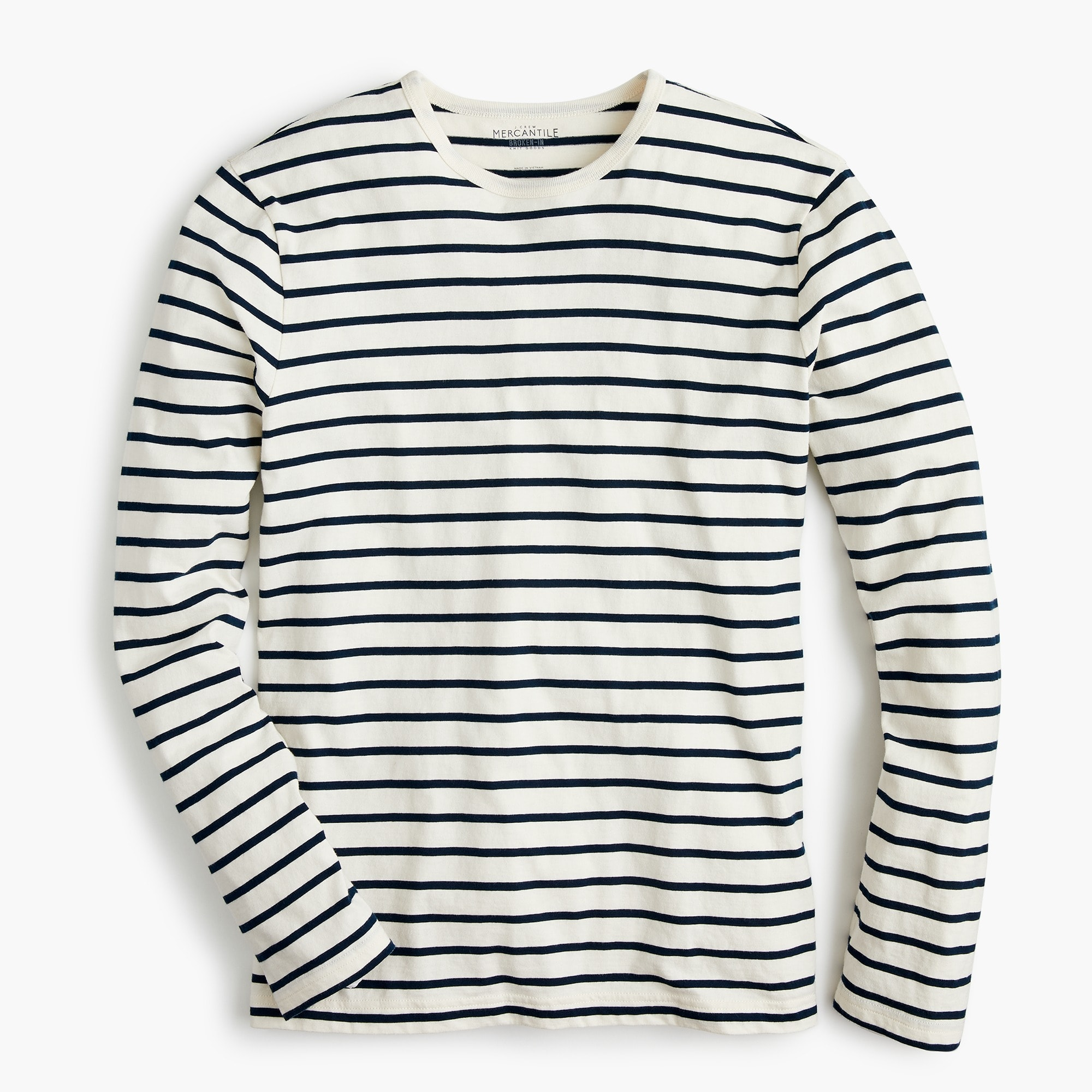 Classic J.Crew Mercantile Broken-in long-sleeve T-shirt in deck stripe