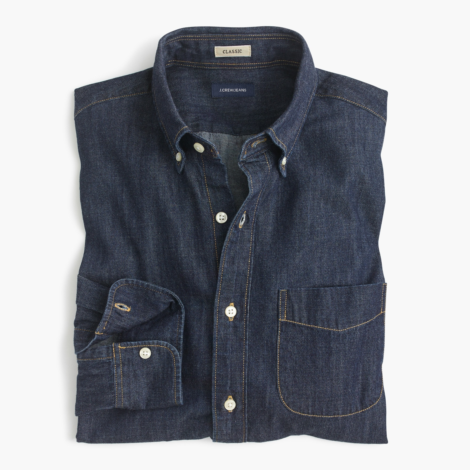 Classic Lightweight denim shirt in dark wash