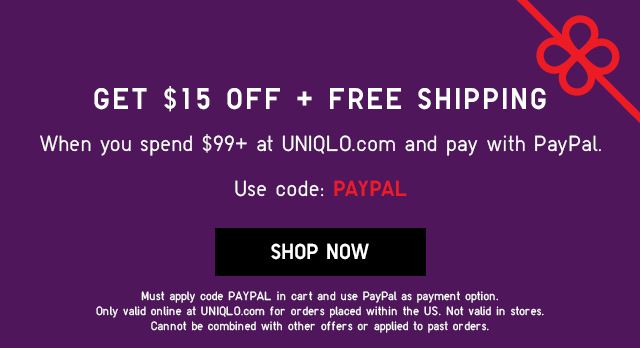 GET $15 OFF + FREE SHIPPING WITH PAYPAL - SHOP NOW
