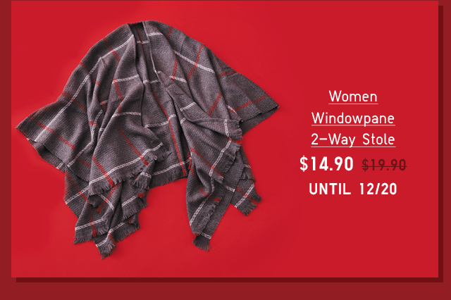 WOMEN WINDOWPANE 2-WAY STOLE $14.90 - SHOP NOW
