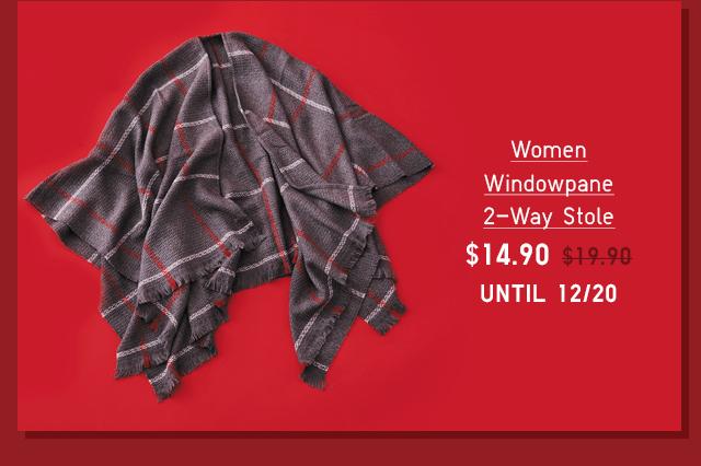 WOMEN WINDOWPANE 2-WAY STOLE $14.90 - SHOP NOW