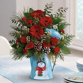 Teleflora's Vintage Snowman Bouquet
