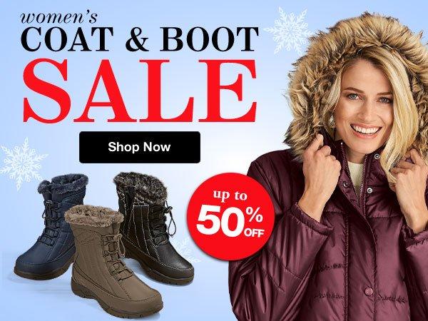 Shop Women's Coat & Boot Sale!