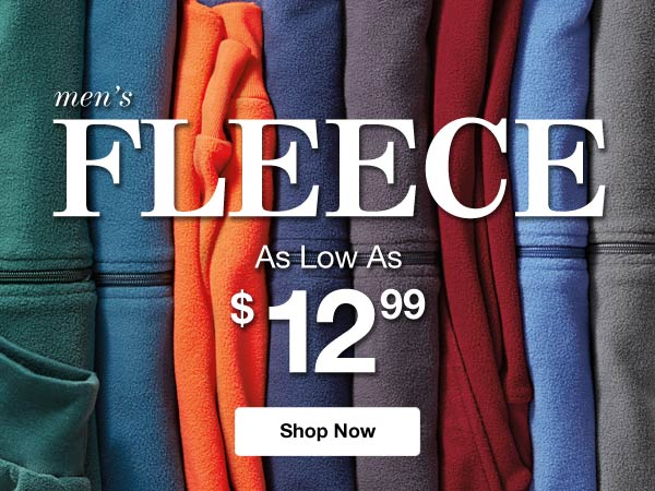 Shop Men's Fleece!