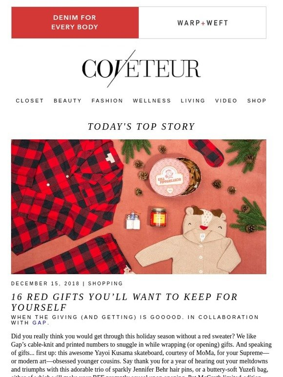 finest selection 3c3c5 179e7 COVETEUR  16 Red Gifts You ll Want to Keep for Yourself   Milled