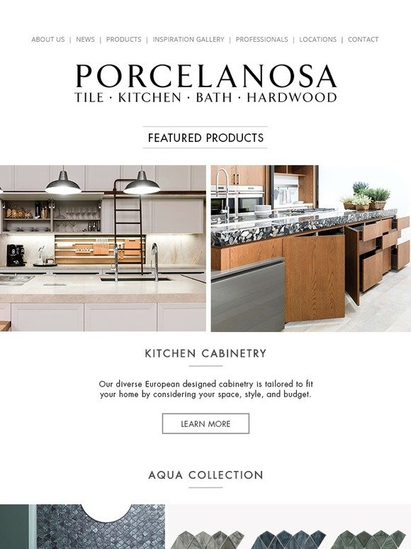 Porcelanosa: Glass Mosaics, Hexagon Tiles, and Cozy Master