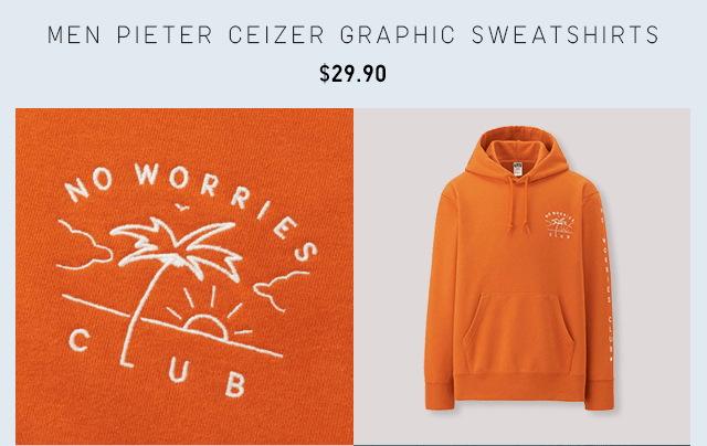 MEN PIETER CEIZER GRAPHIC SWEATSHIRTS $29.90